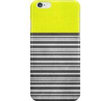 Yellow Gray Stripes iPhone Case/Skin