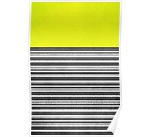 Yellow Gray Stripes Poster