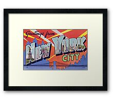 Greetings from NYC Framed Print