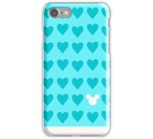 Hidden Mickey- Aqua iPhone Case/Skin