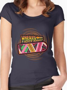 Where's My Hover Board? Women's Fitted Scoop T-Shirt