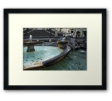 Almost Empty Spanish Steps in Rome Framed Print