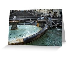 Almost Empty Spanish Steps in Rome Greeting Card