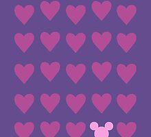 Hidden Mickey- Pink & Purple by SunshineSarah
