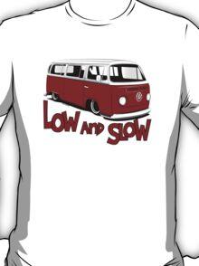 "VW Bay Camper Van ""Low and Slow"" T-Shirt"