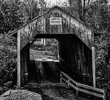Grange City Covered Bridge - BW by mcstory