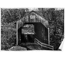 Grange City Covered Bridge - BW Poster
