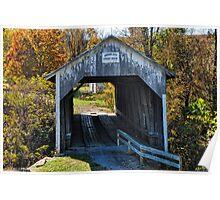 Grange City Covered Bridge Poster