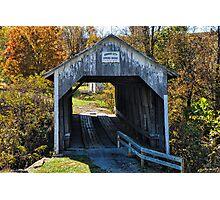 Grange City Covered Bridge Photographic Print