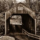 Grange City Covered Bridge - Sepia by mcstory