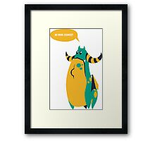 Monty the hungry dragon Framed Print