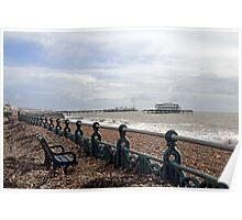 Brighton Storm Damage Poster