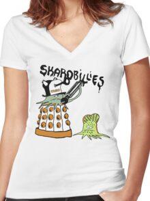 SkaroBillies Women's Fitted V-Neck T-Shirt