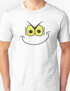 evil super villain genius mischievous smiley face T-Shirt