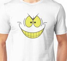 smiley face evil super villain genius plotting smile Unisex T-Shirt