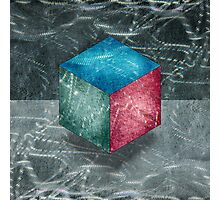 Aluminu, Cube RGB Photographic Print