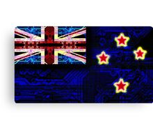 circuit board new zealand (flag) Canvas Print