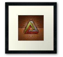 Penrose Triangle RGB Steel Framed Print