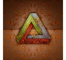 Penrose Triangle RGB Steel Photographic Print