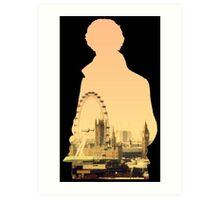 Sherlock - London Silouette Art Print