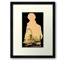 Sherlock - London Silouette Framed Print