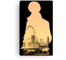 Sherlock - London Silouette Canvas Print