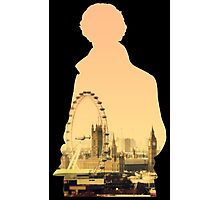 Sherlock - London Silouette Photographic Print