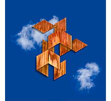 Cubed Flight in the Clouds Photographic Print