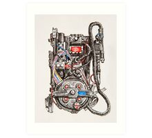 Ghostbuster Proton Pack Art Print