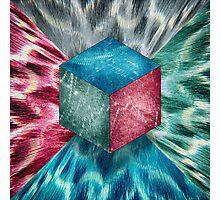 Aluminum Cube RGB Psychodelic Photographic Print