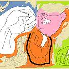 3 x Hand studies/Version II -(140214)- Digital artwork/MS paint by paulramnora