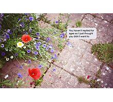 Summer texts Photographic Print