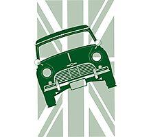 Racing Green Austin Mini Photographic Print