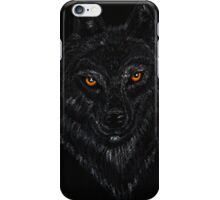 Wolf Drawing with Pastel Pencil iPhone Case/Skin
