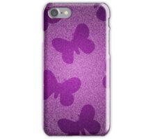 Purple Glitter Butterflies iPhone Case/Skin