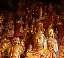buddhas in a cave by Anne Scantlebury