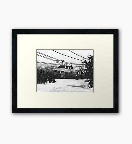 SUV Ski Lift Framed Print