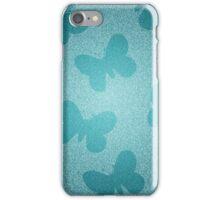 Teal Glitter Butterflies iPhone Case/Skin