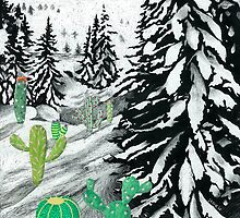 Cactus Winter Wonderland by NJjessie