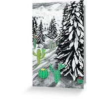 Cactus Winter Wonderland Greeting Card