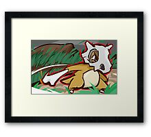 Cubone | Bone Rush  Framed Print
