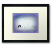 The Wild and the Free Framed Print