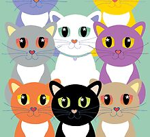 Only Eight Cats by Jean Gregory  Evans