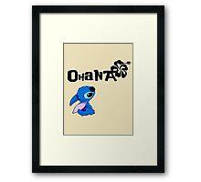 Stitch - Ohana Framed Print