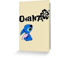 Stitch - Ohana Greeting Card