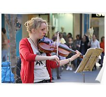 Street busker, Rundle Mall, Adelaide Poster