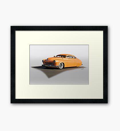 1950 Mercury 'Tangy Tangerine' Custom Framed Print