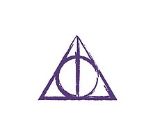 Purple Deathly Hallows Symbol by ilikefood