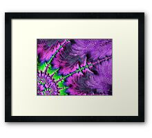 Through The Purple Glass Framed Print