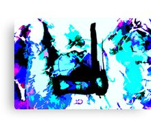 match stick in ice Canvas Print